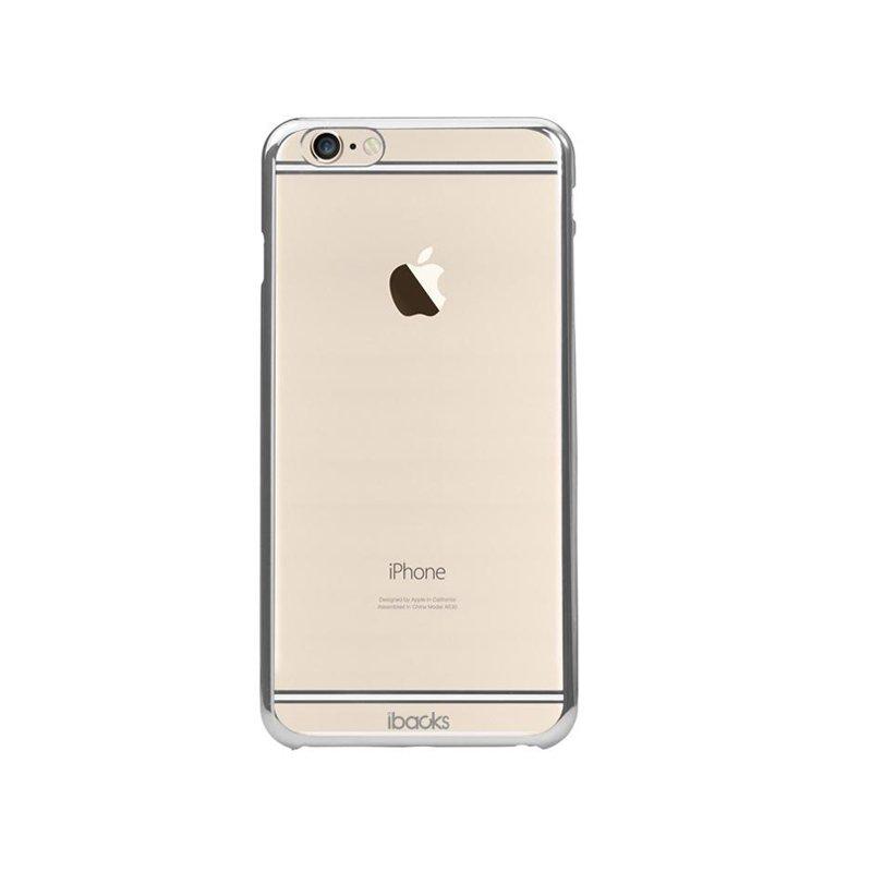 Чехол-накладка для Apple iPhone 6/6S - iBacks iFling Electroplating прозрачный + серебристый