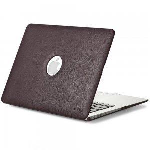 "Чехол-накладка для Apple MacBook Air 13"" - Kuzy Leather Hard Case коричневый"