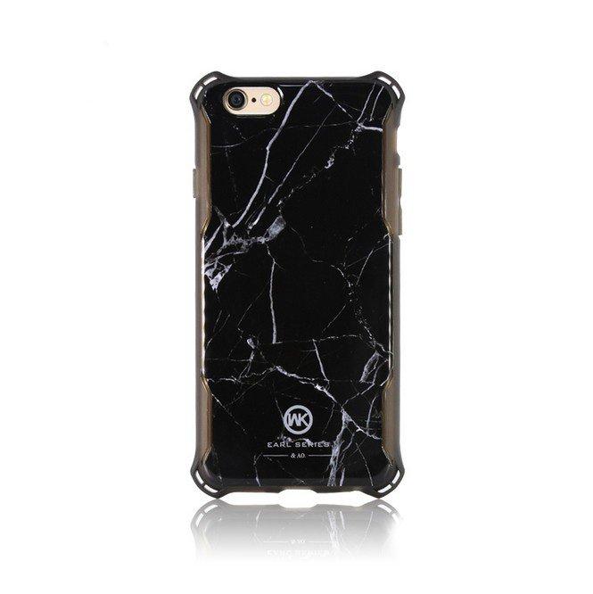 Чехол с рисунком WK Marble Earl чёрный для iPhone 6/6S