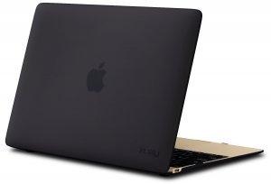 """Чехол-накладка для Apple MacBook 12"""" - Kuzy Rubberized Hard Case черный"""