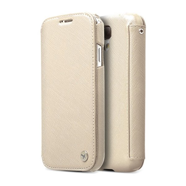 Чехол-книжка для Samsung Galaxy S4 - Zenus Minimal бежевый