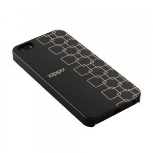 Чехол-накладка для Apple iPhone 5/5S - Zippo Square черный