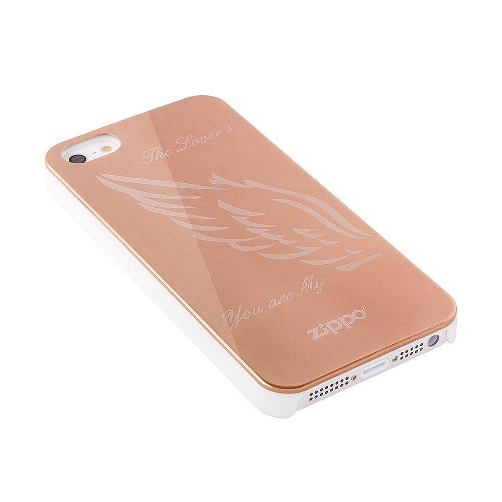 Чохол-накладка для Apple iPhone 5 / 5S - Zippo The Lovers золотистий
