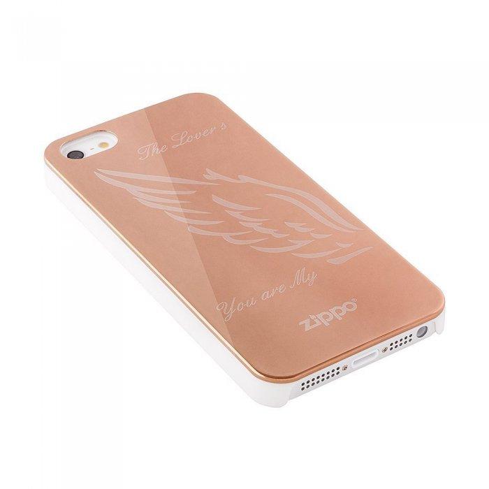 Чехол-накладка для Apple iPhone 5/5S - Zippo The Lovers золотистый