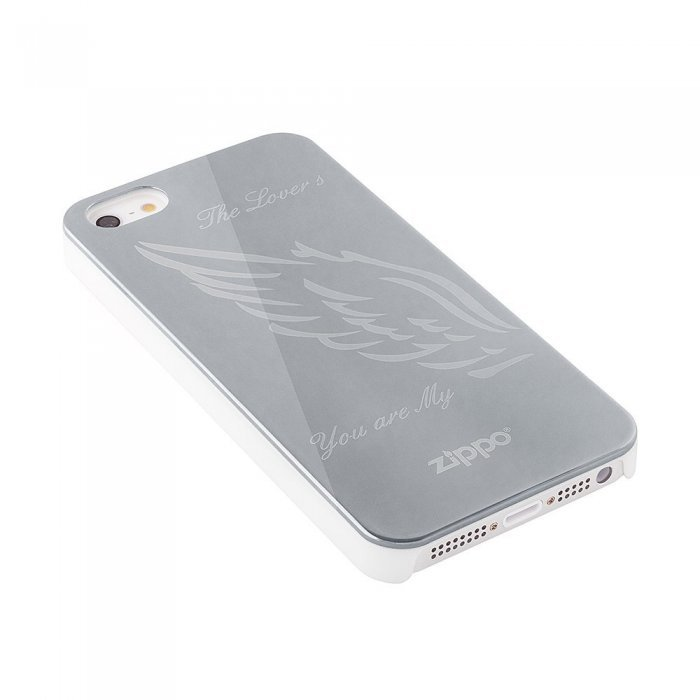 Чехол-накладка для Apple iPhone 5/5S - Zippo The Lovers серебристый