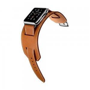 Ремешок для Apple Watch 38мм - Coteetci W10 Hermes коричневый