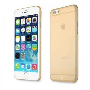 Полупрозрачный чехол Baseus Slim золотой для iPhone 6/6S Plus