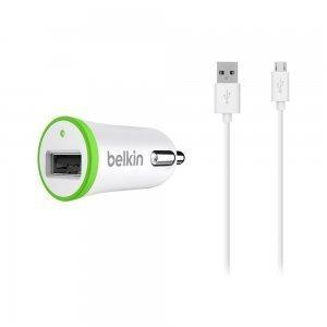 Автомобильное зарядное устройство Belkin USB MicroCharger 12V белое