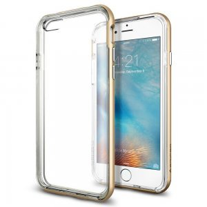 Чехол-накладка для Apple iPhone 6/6S - Spigen Neo Hybrid EX золотистый + прозрачный