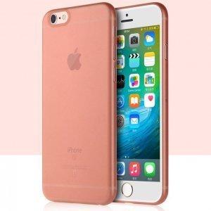Полупрозрачный чехол Baseus Slender розовый для iPhone 6/6S