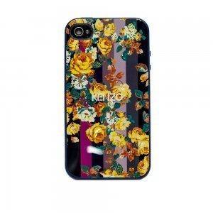 Чохол з малюнком Kenzo з жовтими квітами для iPhone 4 / 4S