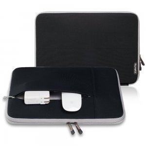 "Чехол-карман для Apple MacBook 13"" - Runetz Neoprene Sleeve черный + серый"
