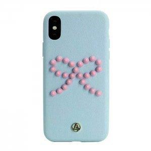 3D чехол Luna Aristo Prima Donna Blush синий для iPhone X/XS