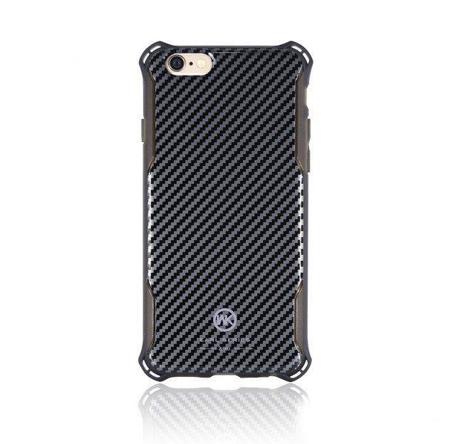 Пластиковый чехол WK Earl Chrome чёрный для iPhone 8/7