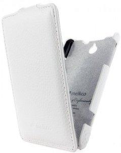 Чехол-флиппер для Sony Xperia E Dual - Melkco Jacka белый