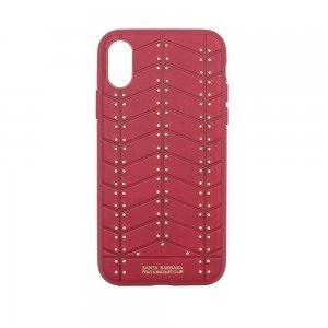 Кожаный чехол Polo Armor красный для iPhone X/XS