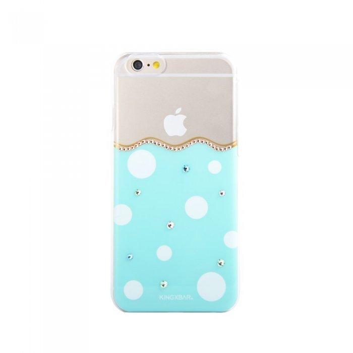Чехол-накладка для Apple iPhone 6/6S - Kingxbar Polka-Dot голубой