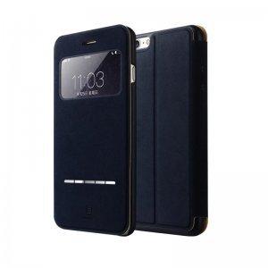 Кожаный чехол (книжка) Baseus Terse синий для iPhone 6/6S Plus