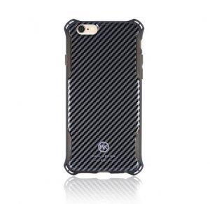 Пластиковый чехол WK Earl Chrome чёрный для iPhone 6/6S