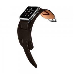 Ремешок Coteetci W10 Hermes темно-серый для Apple Watch 38/40 мм