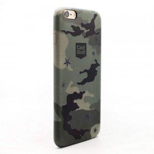 Ультратонкий чехол CaseStudi Military зелёный для iPhone 6/6S