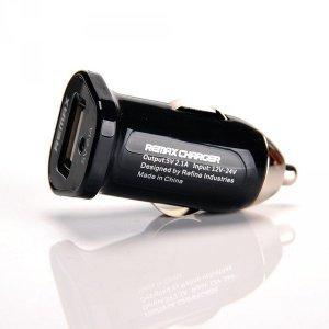 Автомобильное зарядное устройство Remax 2.1A, 1 USB, черное