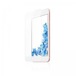 Защитное стекло Baseus silk screen printed full-screen, 0.2мм, глянцевое, белое для iPhone 7 Plus