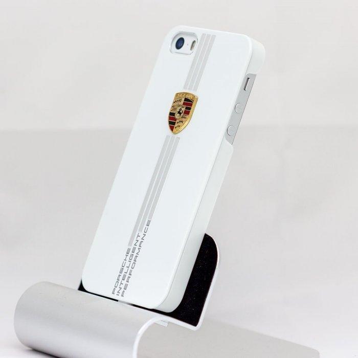 Пластиковый чехол Porsche Design белый для iPhone 5/5S/SE