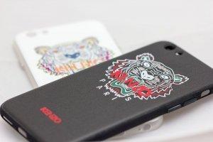 Чехол с рисунком WK Kenzo Paris черный для iPhone 6/6S