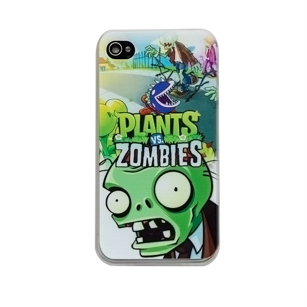 Чехол с рисунком Plants&Zombies для iPhone 4/4S