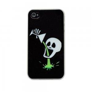 Чехол с рисунком Skull разноцветный для iPhone 4/4S