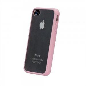 Силіконовий чохол BTO світло-рожевий для iPhone 4 / 4S