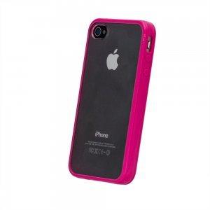Силиконовый чехол BTO розовый для iPhone 4/4S