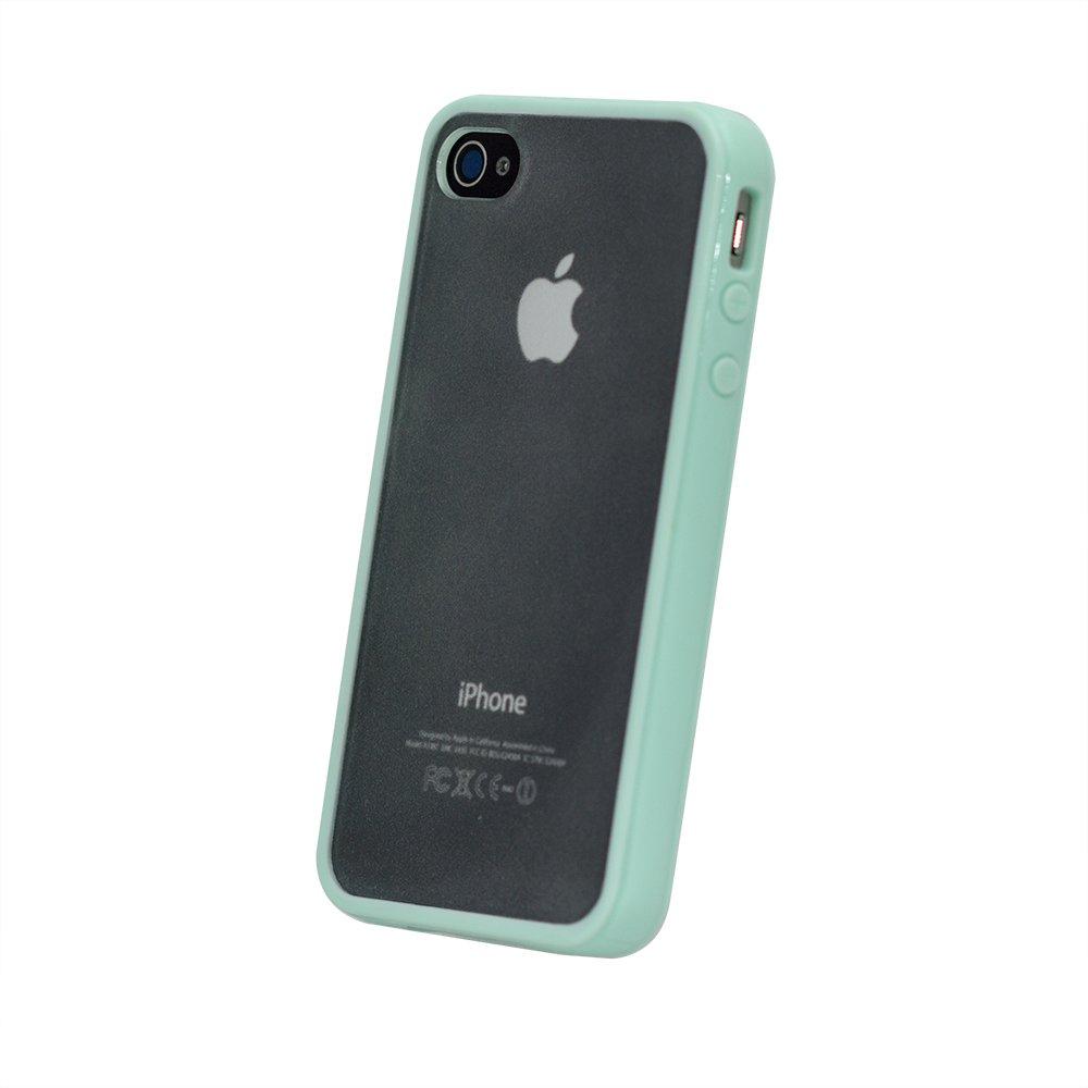 Силиконовый чехол BTO зелёный для iPhone 4/4S