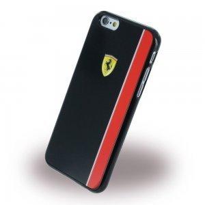 Чехол-накладка для Apple iPhone 6/6S - Ferrari Scuderia черный + красный