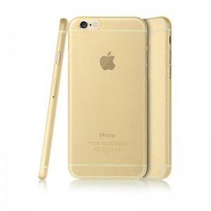 Полупрозрачный чехол Baseus Slender золотой для iPhone 6/6S