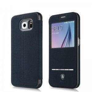 Чехол (книжка) Baseus Terse синий для Samsung Galaxy S6 Edge
