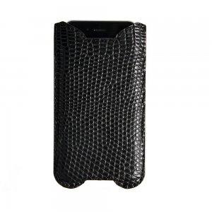 Чехол-карман для Apple iPhone 6 - SkinsUA, кожа крокодила, черный