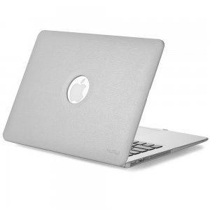 """Чехол-накладка для Apple MacBook Air 13"""" - Kuzy Leather Hard Case серый"""