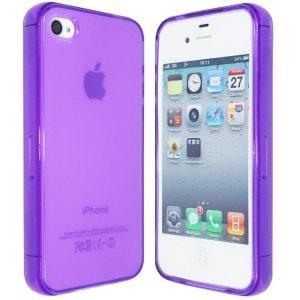 Чехол-накладка для Apple iPhone 4/4S - Silicon Case Translucent фиолетовый