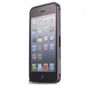 Чехол-бампер для Apple iPhone 5/5S - Cotєetcl (на клипсе) черный