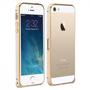 Чехол-бампер для Apple iPhone 5/5S - Cotєetcl (на клипсе) золотистый
