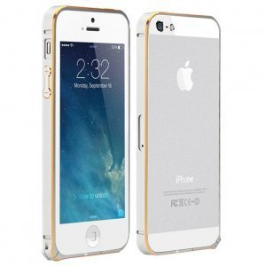 Чехол-бампер для Apple iPhone 5/5S - Cotєetcl (на клипсе) серебристый