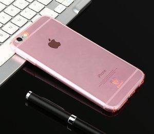 Полупрозрачный чехол Baseus Sky розовый для iPhone 6/6S