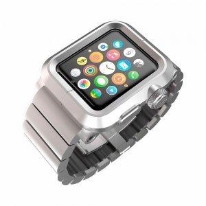 Чехол-ремешок для Apple Watch - LunaTik EPIK 2 LINK серебристый