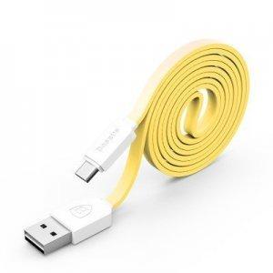 Кабель Micro-USB - Baseus String 1м, желтый + белый