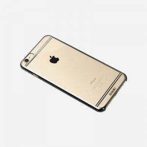 Чехол-накладка для Apple iPhone 6/6S - iBacks iFling Electroplating прозрачный + черный