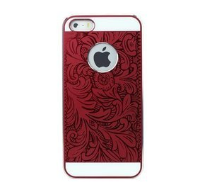 Чехол-накладка для Apple iPhone 5/5S - iBacks Cameo Venezia красный