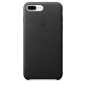 Оригинальный чехол Apple Leather Case чёрный (MMYJ2) для iPhone 8 Plus/7 Plus