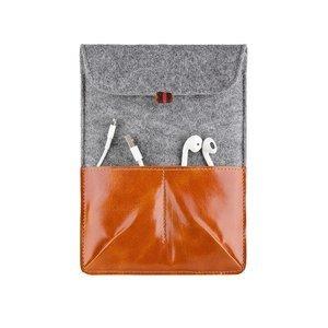 Чехол-карман для Apple iPad mini 1/2/3 - Dublon Leatherworks Military коричневый
